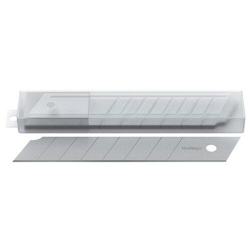 Купить Berlingo Лезвия для канцелярских ножей (BM4211) 18 мм (10 шт.) серебристый, Ножи канцелярские