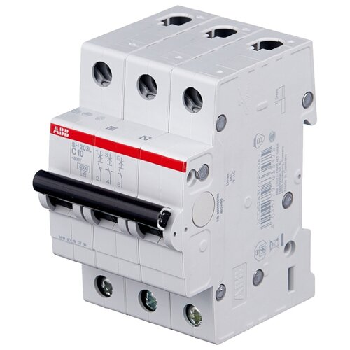 Автоматический выключатель ABB SH203L 3P (С) 4,5kA 10 А автомат abb sh203l c25