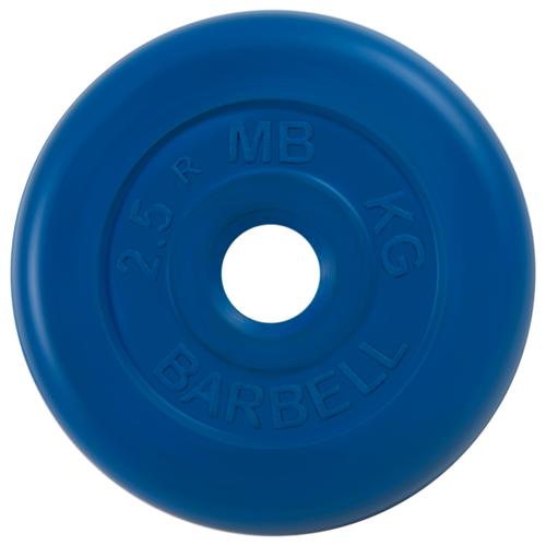 Диск MB Barbell Стандарт MB-PltC26 2.5 кг синий диск mb barbell стандарт mb pltc26 10 кг зеленый