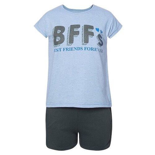 Купить Комплект одежды M&D размер 134, голубой/черный, Комплекты и форма