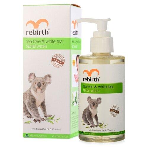 Rebirth гель для умывания с маслом чайного дерева и белым чаем, 200 мл