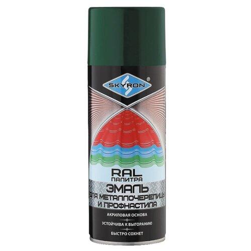 Эмаль Skyron для металлочерепицы и профнастила зеленый мох RAL 6005 520 мл