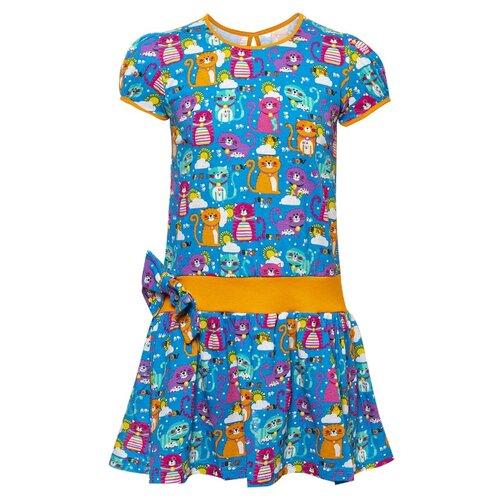 Купить Платье M&D размер 116, синий, Платья и сарафаны