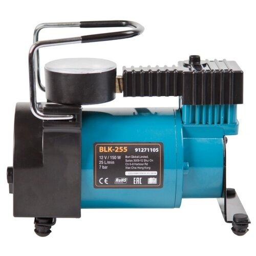 Автомобильный компрессор Bort BLK-255 черный/синий