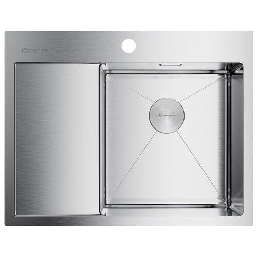 Врезная кухонная мойка 65 см OMOIKIRI Akisame 65-IN-R нержавеющая сталь врезная кухонная мойка 78 см omoikiri akisame 78 in l нержавеющая сталь