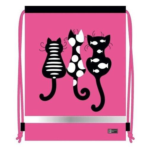 Купить Феникс+ Мешок для обуви Коты (51604) розовый, Мешки для обуви и формы