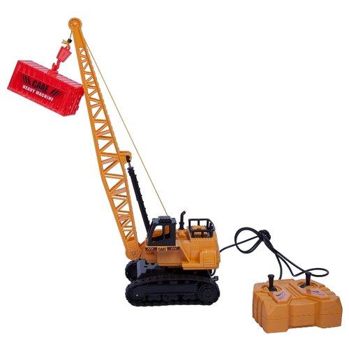 Купить Подъемный кран BONDIBON ВВ4088 1:50 18 см желтый, Радиоуправляемые игрушки