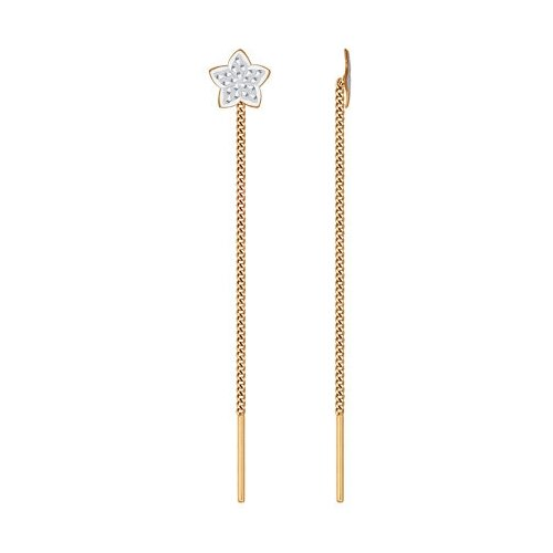 SOKOLOV Серьги-цепочки из золота с алмазной гранью 024815 фото