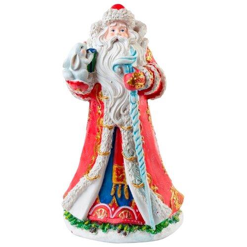 Фигурка Феникс Present Дед Мороз с зайчиком 25,4 см красный