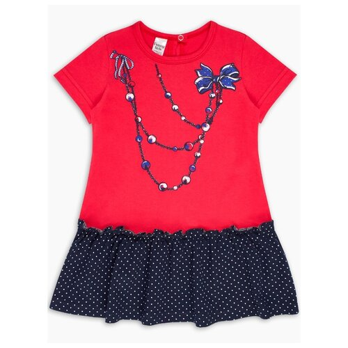 Платье Веселый Малыш размер 122, красный/синий