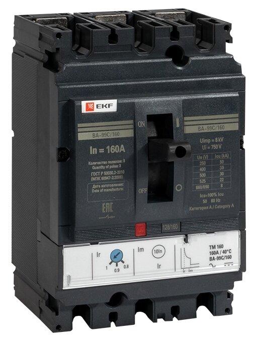 Автоматический выключатель EKF ВА-99C/160 3P (термомагнитный) 36kA
