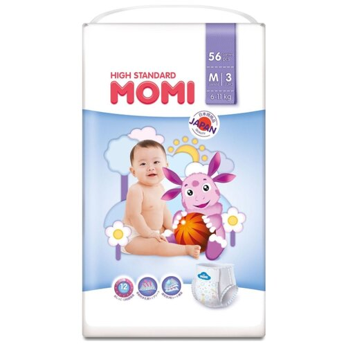 Momi трусики High Standard M (6-11 кг) 56 шт. momi трусики m 6 10 кг 44 шт