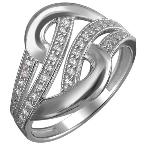 Эстет Кольцо с 32 фианитами из серебра 01К159756, размер 18 фото