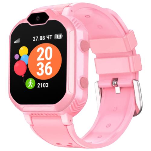 Детские умные часы c GPS GEOZON 4G розовый детские умные часы c gps geozon active розовый