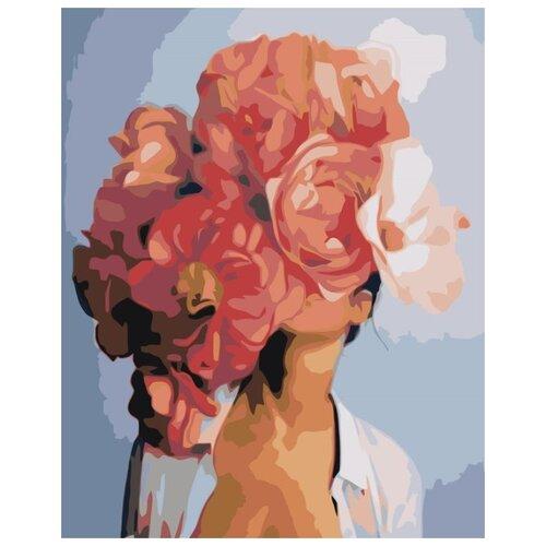 Купить Картина по номерам Живопись по Номерам Девушка в цветах 6 , 40x50 см, Живопись по номерам, Картины по номерам и контурам