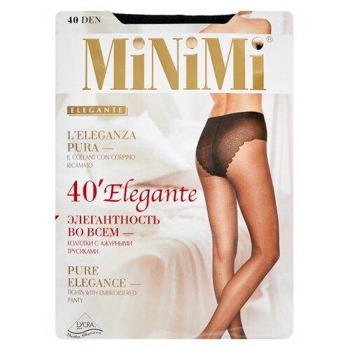 Колготки MiNiMi Elegante 40 den, размер 4-L, nero (черный) колготки minimi vittoria 40 den размер 4 l nero черный