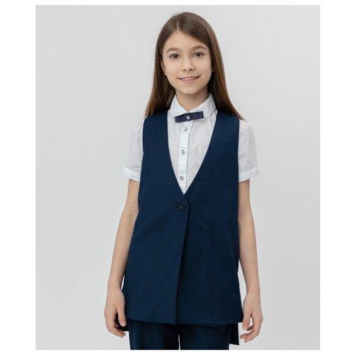 Купить Жилет Button Blue размер 146, синий, Жилеты