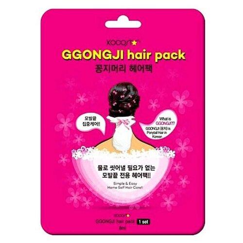 Kocostar Ggong Ji Hair Pack Восстанавливающая маска для поврежденных волос Конский хвост, 8 мл гирлянда светодиодная luazon конский хвост цвет фиолетовый 225 ламп 8 режимов 12 v 15 нитей длина 1 5 м 1080614