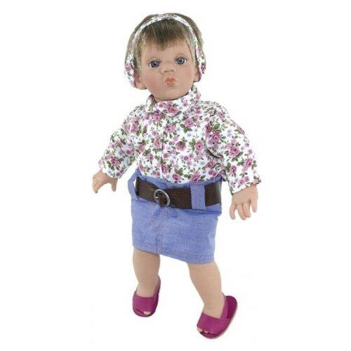 Кукла Lamagik Поцелуй девочка в джинсовой юбке и цветастой блузке, 38 см, 12026