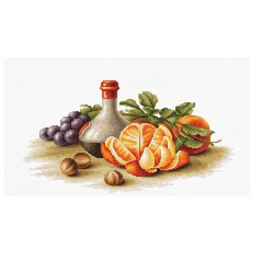 Купить Luca-S Набор для вышивания Натюрморт с апельсинами, 35.5 х 19 см, B2250, Наборы для вышивания