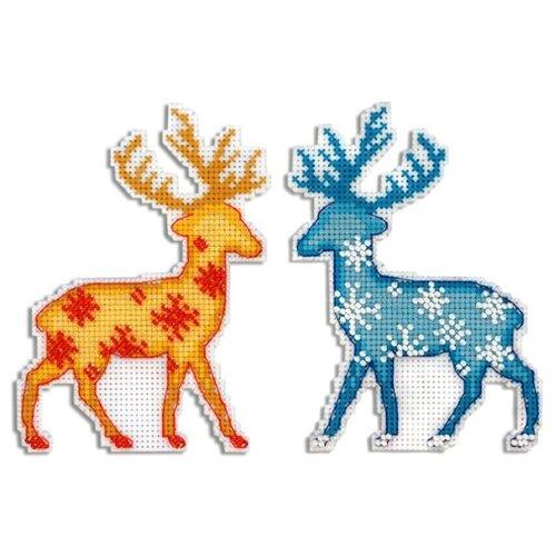 Купить Жар-птица Набор для вышивания Северный олень 9 х 12 см (Р-455), Наборы для вышивания