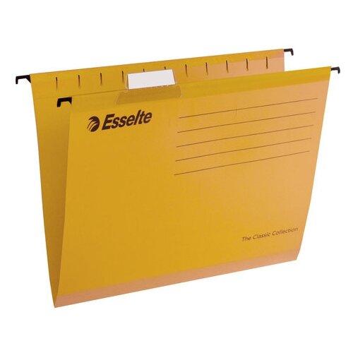 Купить Esselte Папка подвесная Classic А4, картон, 25 шт желтый, Файлы и папки