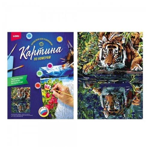 Купить Набор для творчества LORI раскраска по номерам Тигр у воды, Раскраски