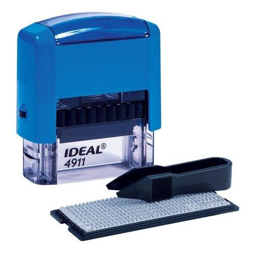 Фото - Штамп самонаборный, 3-строчный Trodat Ideal 4911 P2, оттиск 38х14 мм, цвет корпуса синий, цвет оттиска синий штамп получено оттиск 38 14мм синий trodat ideal 4911 db 1 1 ш к 14863 161486 1 шт