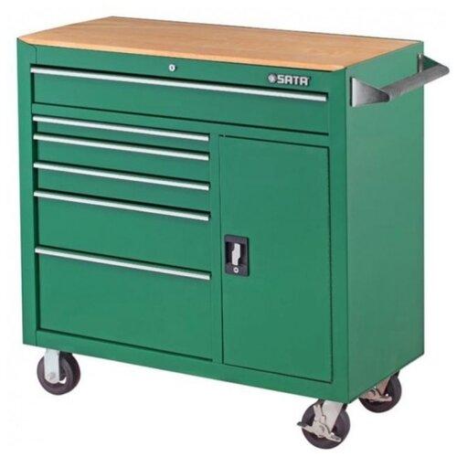 Тележка SATA 95109 ящики: 9 шт. зеленый тележка matrix 906605 ящики 10 шт серый