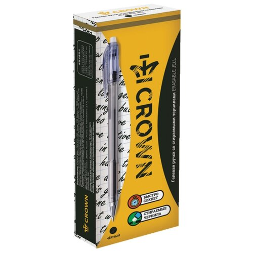Купить CROWN Набор гелевых ручек Erasable Jell, 0.5 мм, 12 шт (EG028), черный цвет чернил, Ручки
