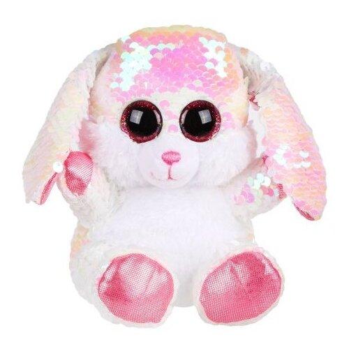 цена на Мягкая игрушка Fluffy Family Зайка из пайеток 15 см