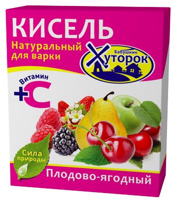 Кисель Бабушкин Хуторок в брикете Плодово-ягодный 180 г