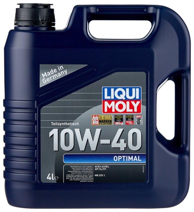 Моторное масло LIQUI MOLY Optimal 10W-40 4 л