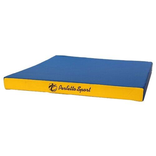 Спортивный мат 1000х1000х100 мм Perfetto Sport № 2 сине/жёлтый