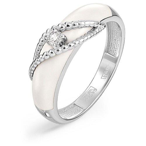 Фото - KABAROVSKY Кольцо с 1 бриллиантом из белого золота 11-11067-1010, размер 17 kabarovsky кольцо с 11 бриллиантами из белого золота 11 1803 1010 размер 17