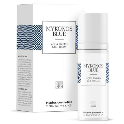 Inspira Cosmetics Mykonos Blue Aqua Hydro Gel Cream Интенсивно увлажняющий гель-крем для лица, 50 мл chi luxury black seed oil curl defining cream gel