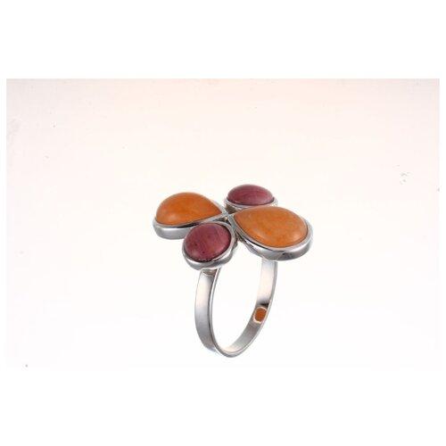 ELEMENT47 Кольцо из серебра 925 пробы с агатом и родохрозитами TRE35R_KO_AG_RHZ_WG, размер 17