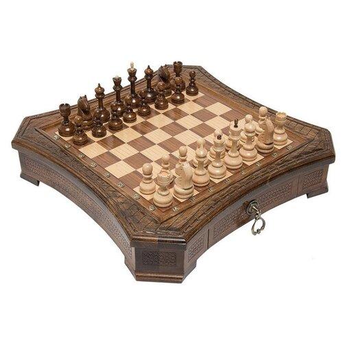 Haleyan Шахматы резные восьмиугольные в ларце 50