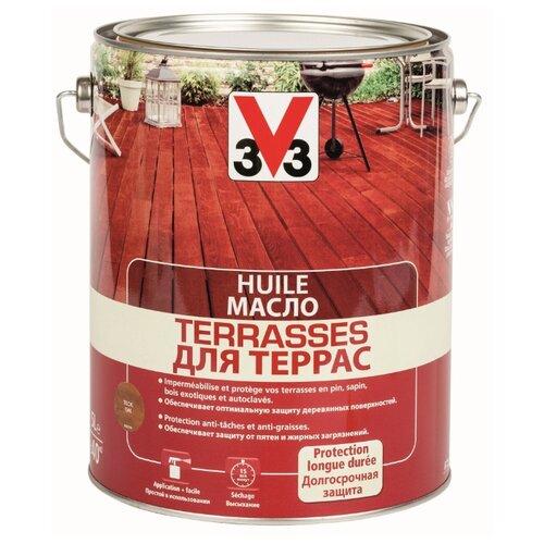 Масло V33 для террас, тик, 5 л