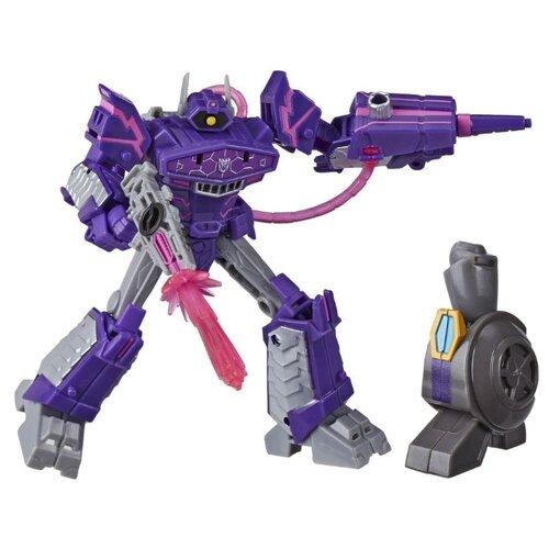 Трансформер Hasbro Transformers Шоквейв. Делюкс Build A Figure Maccadam (Кибервселенная) E7098 фиолетовый/серый transformers игрушкатрансформер кибервселенная 10 см e1883