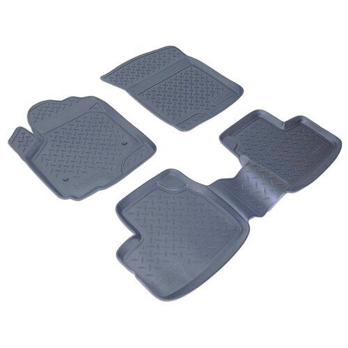 Комплект ковриков NorPlast NPL-Po-85-45 4 шт. черный по цене 1 410