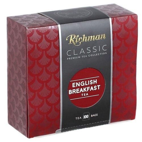 Чай черный Richman English breakfast в пакетиках , 100 шт. фото