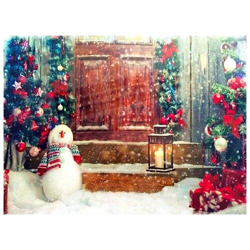 Светящееся настенное панно ДВЕРЬ В СКАЗКУ, 1 мерцающий LED-огонь, 40х30 см, SNOWHOUSE