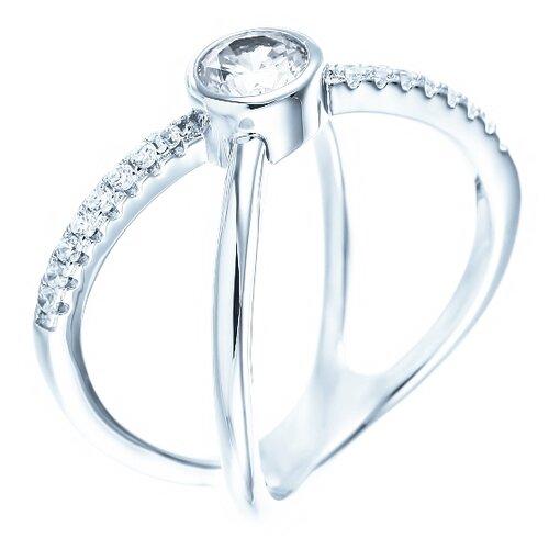 ELEMENT47 Кольцо из серебра 925 пробы с кубическим цирконием ML01749B_KO_001_WG, размер 17.5