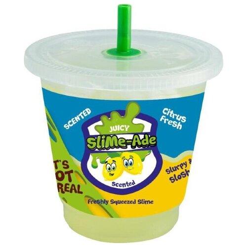 Лизун Junfa toys Jelly Cube slime цитрусовый фреш зелeный
