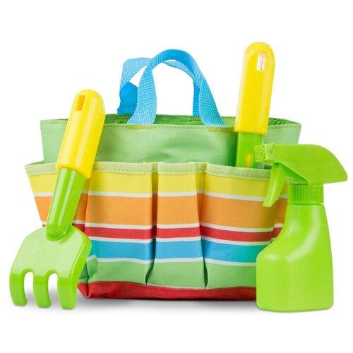 Купить Melissa&Doug Sunny Patch Набор для садоводства в сумочке, зеленый, Melissa & Doug, Игровые наборы и фигурки