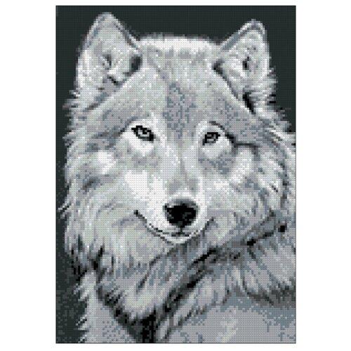 Фото - Гранни Набор алмазной вышивки Серый волк (Ag 545) 27х38 см гранни набор алмазной вышивки радужный слон ag 482 27х38 см