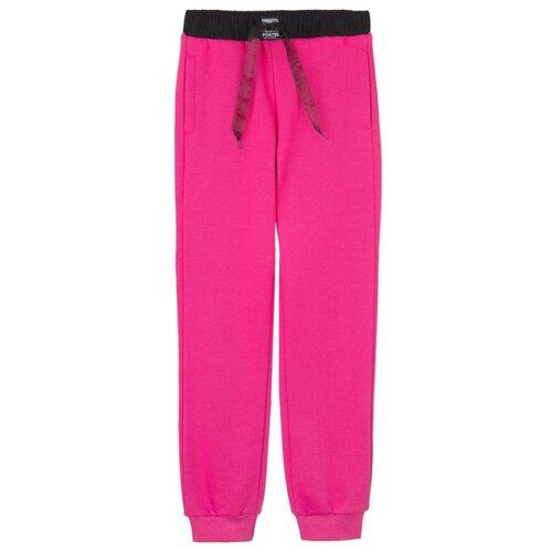Купить Брюки playToday 32021112 размер 134, розовый/черный