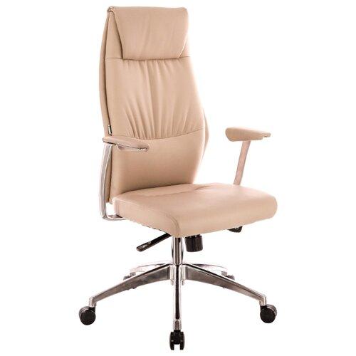 Фото - Компьютерное кресло Everprof London для руководителя, обивка: искусственная кожа, цвет: бежевый компьютерное кресло everprof trend tm для руководителя обивка искусственная кожа цвет черный