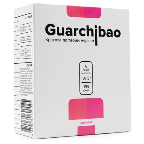 Guarchibao Фитококтейль Sachets со вкусом Малина, 5 шт. в упаковке, 107.5 г